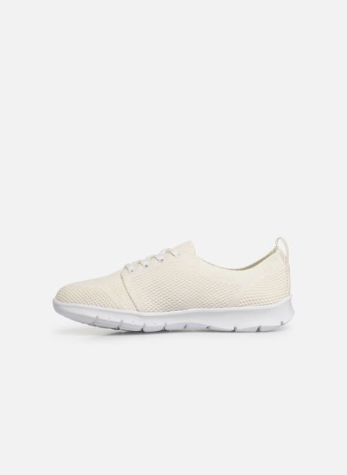 Baskets Cloudsteppers by Clarks Step Allena Sun Blanc vue face