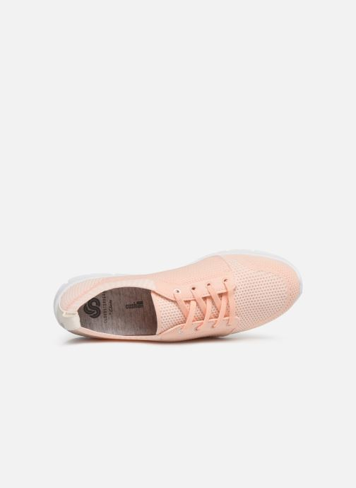 Trainers Cloudsteppers by Clarks Step Allena Sun Pink view from the left