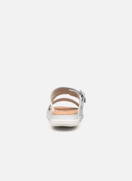 Zuecos Cloudsteppers by Clarks Step June Tide Blanco vista lateral derecha