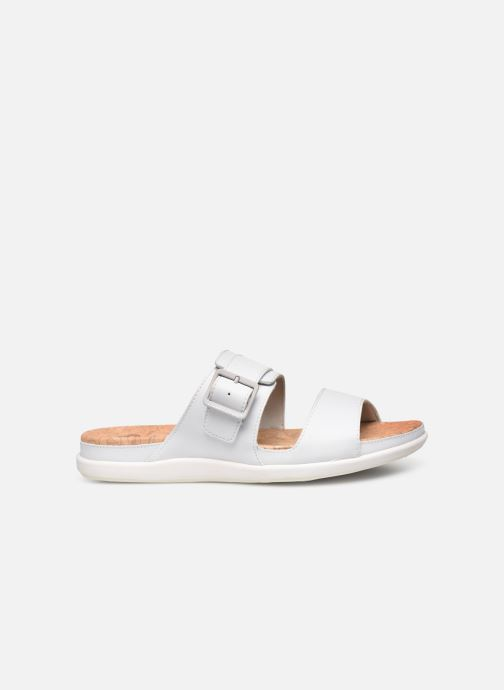 Zuecos Cloudsteppers by Clarks Step June Tide Blanco vistra trasera