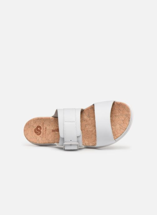 Zuecos Cloudsteppers by Clarks Step June Tide Blanco vista lateral izquierda