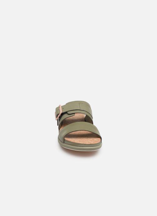 Mules et sabots Cloudsteppers by Clarks Step June Tide Vert vue portées chaussures