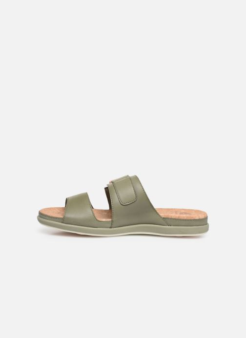 Zuecos Cloudsteppers by Clarks Step June Tide Verde vista de frente