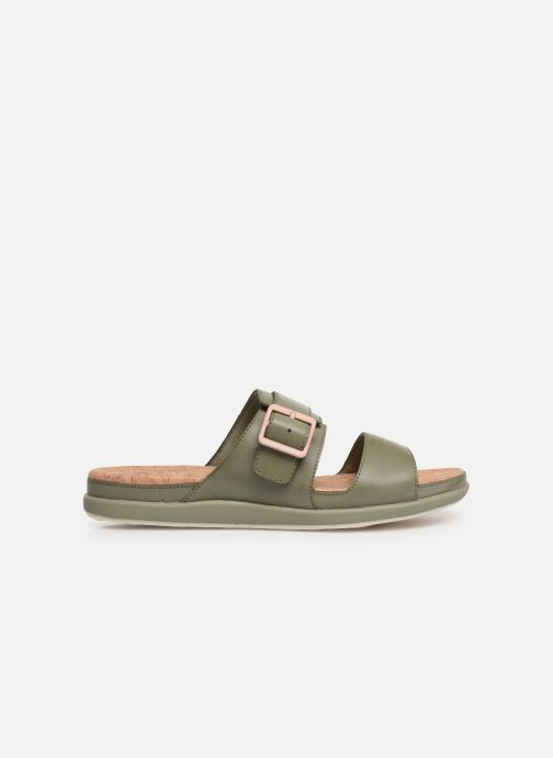 Zuecos Cloudsteppers by Clarks Step June Tide Verde vistra trasera