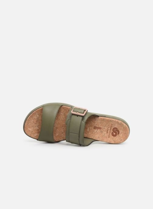 Zoccoli Cloudsteppers by Clarks Step June Tide Verde immagine sinistra