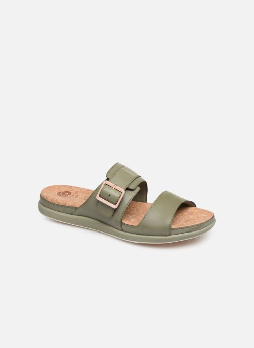 Zuecos Cloudsteppers by Clarks Step June Tide Verde vista de detalle / par