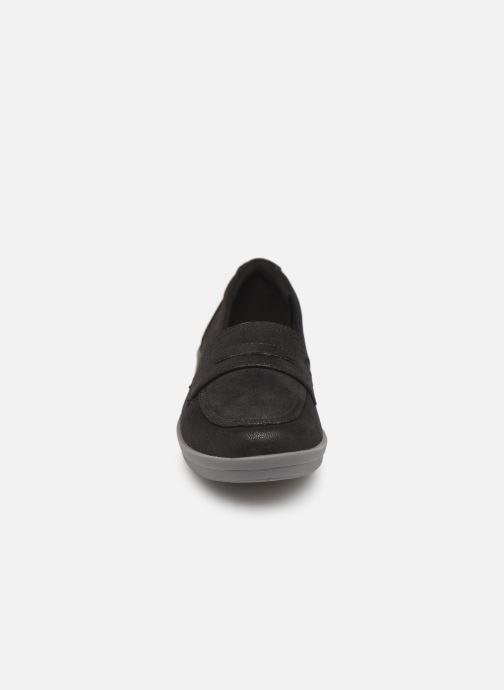 Slipper Cloudsteppers by Clarks Ayla Form schwarz schuhe getragen