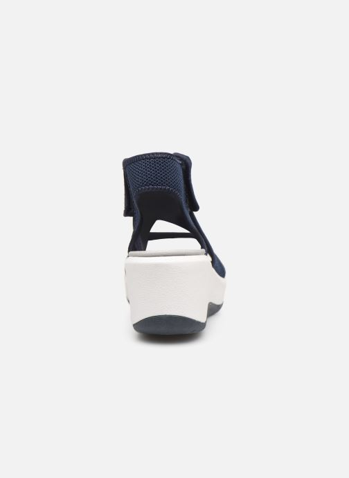 Sandalias Cloudsteppers by Clarks Step Cali Palm Azul vista lateral derecha
