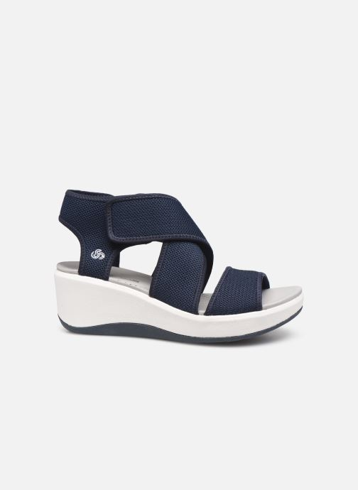 Sandales et nu-pieds Cloudsteppers by Clarks Step Cali Palm Bleu vue derrière