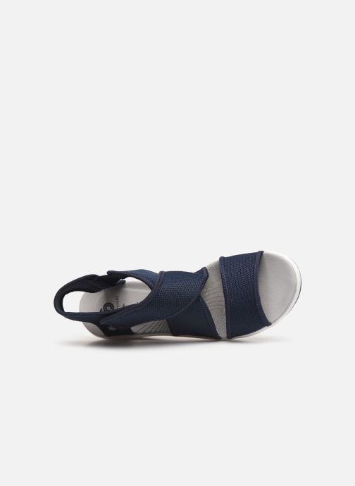 Sandales et nu-pieds Cloudsteppers by Clarks Step Cali Palm Bleu vue gauche