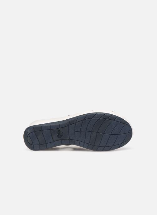 Sandales et nu-pieds Cloudsteppers by Clarks Step Cali Palm Bleu vue haut
