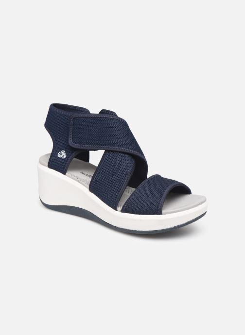 Sandales et nu-pieds Cloudsteppers by Clarks Step Cali Palm Bleu vue détail/paire