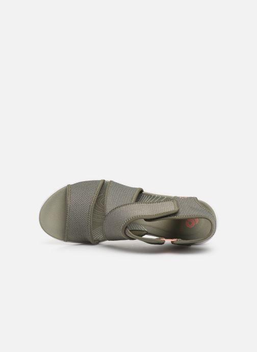Sandales et nu-pieds Cloudsteppers by Clarks Step Cali Palm Vert vue gauche