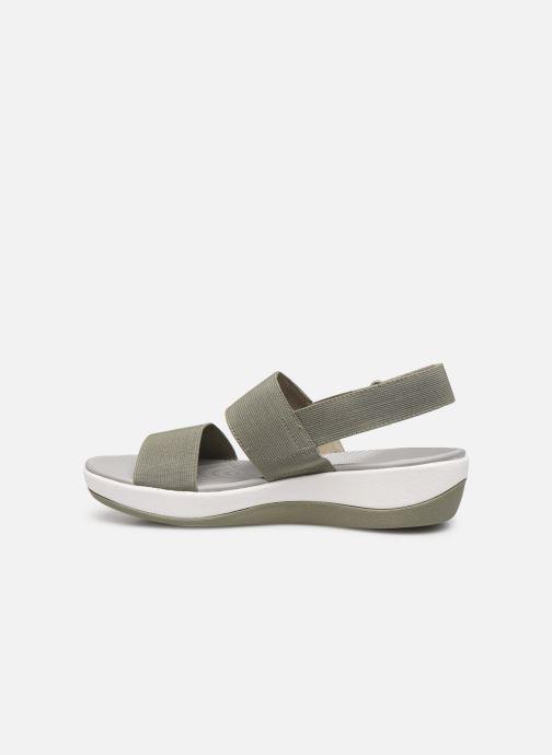 Sandales et nu-pieds Cloudsteppers by Clarks Arla Jacory Vert vue face