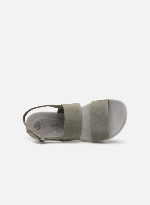 Sandales et nu-pieds Cloudsteppers by Clarks Arla Jacory Vert vue gauche