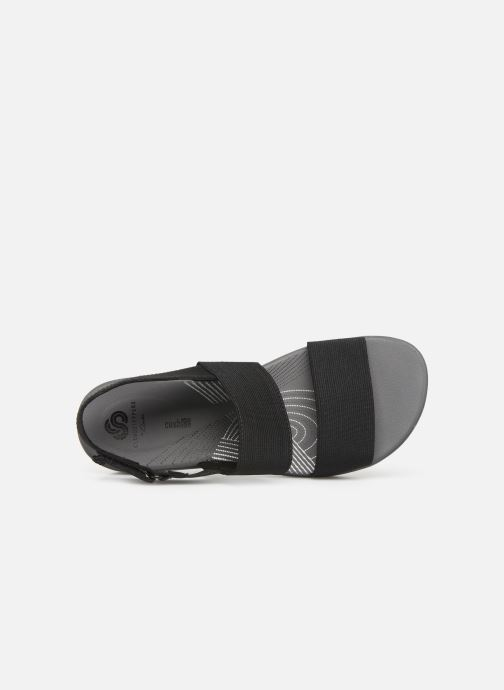 Sandals Cloudsteppers by Clarks Arla Jacory Black view from the left