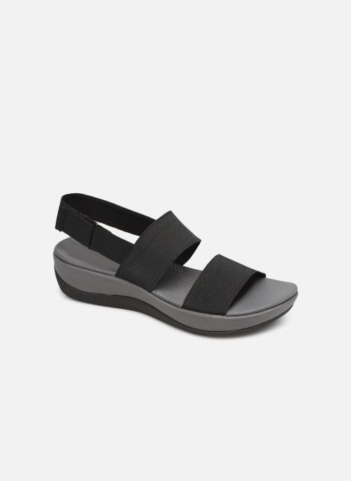 Sandals Cloudsteppers by Clarks Arla Jacory Black detailed view/ Pair view