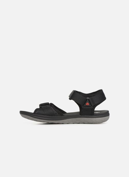 Sandals Cloudsteppers by Clarks Step Beat Sun Black front view