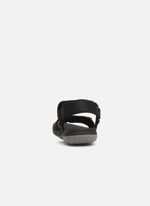 Sandals Cloudsteppers by Clarks Step Beat Sun Black view from the right
