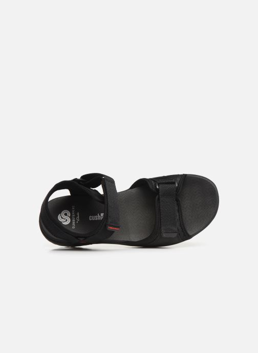 Sandals Cloudsteppers by Clarks Step Beat Sun Black view from the left