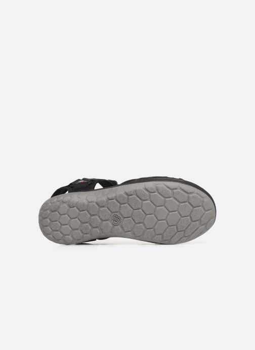 Sandals Cloudsteppers by Clarks Step Beat Sun Black view from above