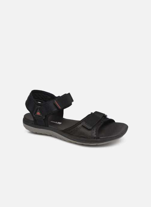 Sandals Cloudsteppers by Clarks Step Beat Sun Black detailed view/ Pair view