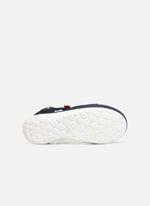 Sandales et nu-pieds Cloudsteppers by Clarks Step Beat Sun Bleu vue haut