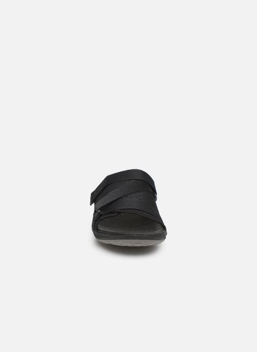 Sandalen Cloudsteppers by Clarks Step Beat Surf schwarz schuhe getragen