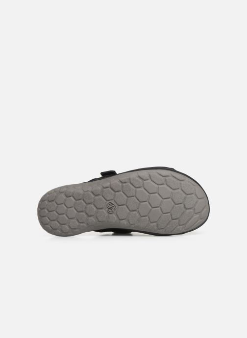 Sandals Cloudsteppers by Clarks Step Beat Surf Black view from above
