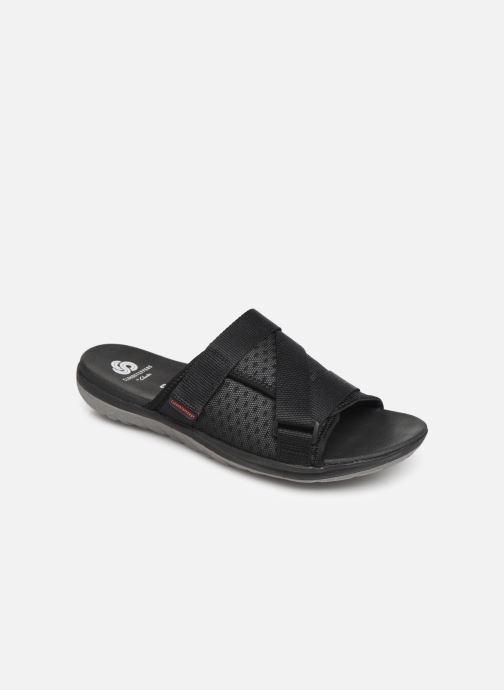 Sandals Cloudsteppers by Clarks Step Beat Surf Black detailed view/ Pair view