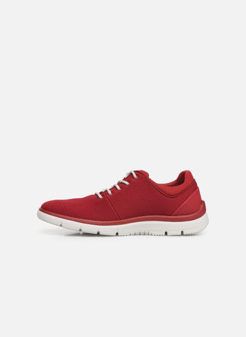 Baskets Cloudsteppers by Clarks Tunsil Ace Rouge vue face