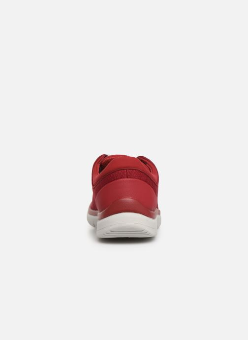 Deportivas Cloudsteppers by Clarks Tunsil Ace Rojo vista lateral derecha