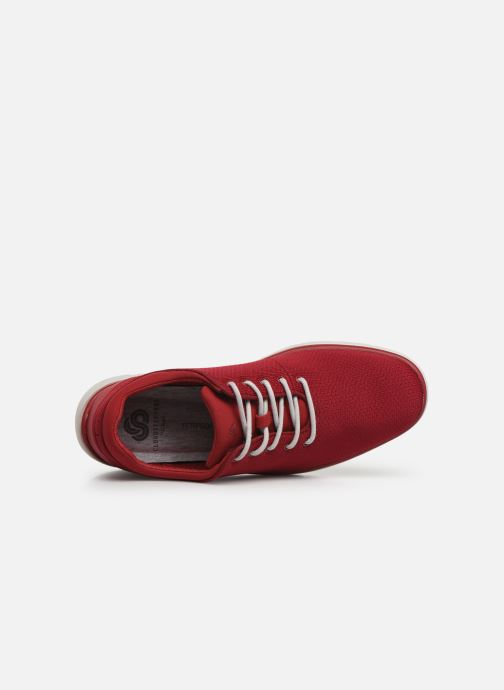 Deportivas Cloudsteppers by Clarks Tunsil Ace Rojo vista lateral izquierda