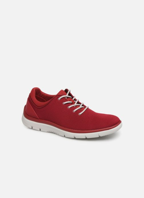 Baskets Cloudsteppers by Clarks Tunsil Ace Rouge vue détail/paire