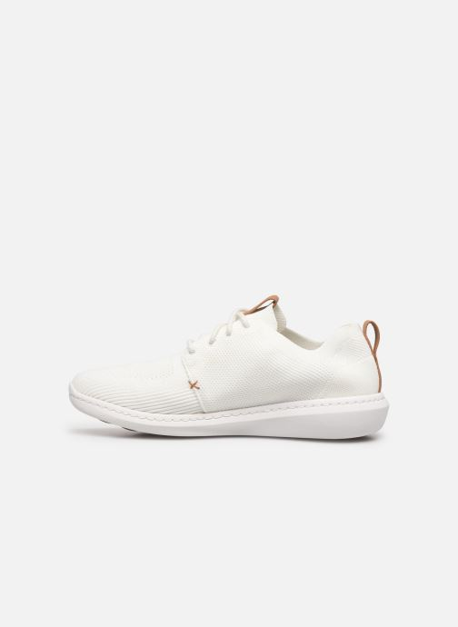Baskets Cloudsteppers by Clarks Step Urban Mix Blanc vue face