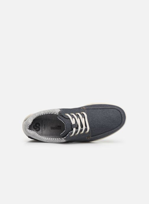 Deportivas Cloudsteppers by Clarks Step Isle Lace Azul vista lateral izquierda