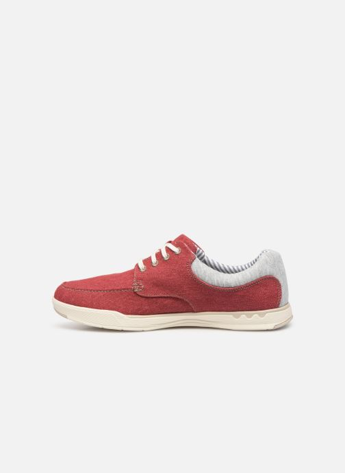 Baskets Cloudsteppers by Clarks Step Isle Lace Rouge vue face