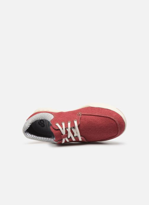 Baskets Cloudsteppers by Clarks Step Isle Lace Rouge vue gauche