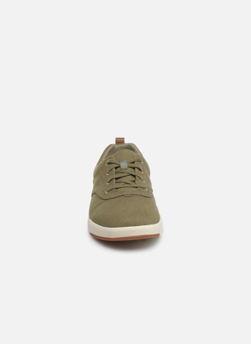 Sneaker Cloudsteppers by Clarks Step Isle Crew grün schuhe getragen