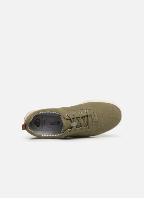 Baskets Cloudsteppers by Clarks Step Isle Crew Vert vue gauche