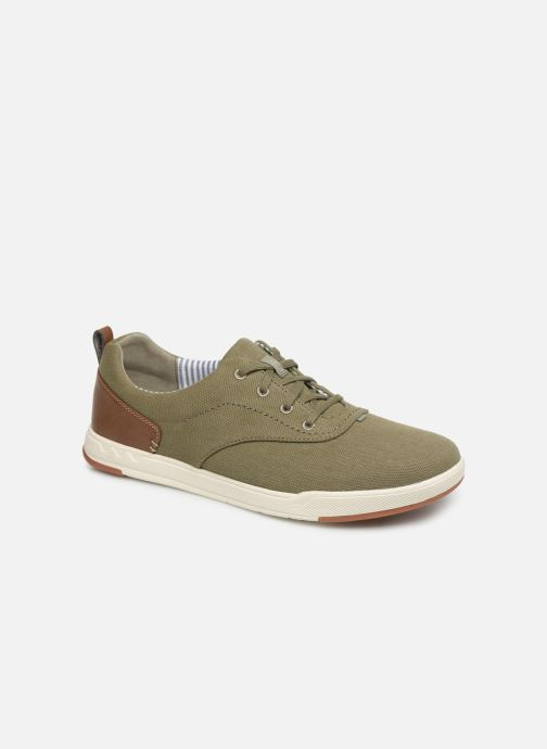 Trainers Cloudsteppers by Clarks Step Isle Crew Green detailed view/ Pair view