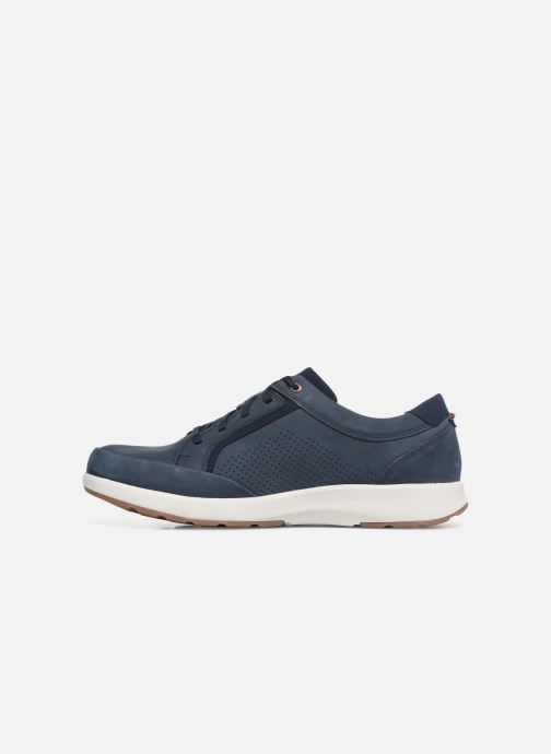 Baskets Clarks Unstructured UN TRAIL FORM Bleu vue face
