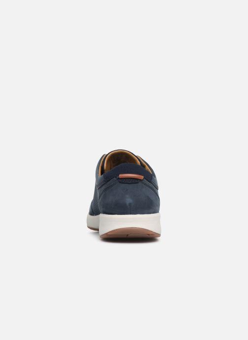 Sneaker Clarks Unstructured UN TRAIL FORM blau ansicht von rechts