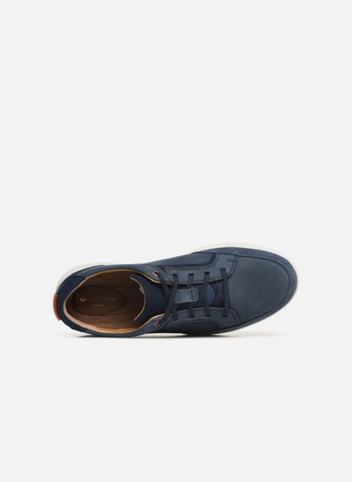 Baskets Clarks Unstructured UN TRAIL FORM Bleu vue gauche