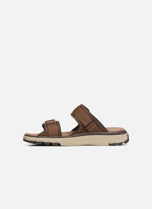 Sandales et nu-pieds Clarks Unstructured UN TREK WALK Marron vue face