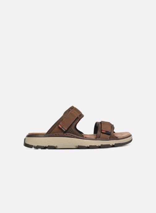 Sandales et nu-pieds Clarks Unstructured UN TREK WALK Marron vue derrière
