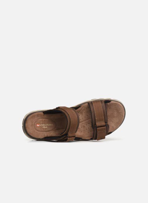 Sandales et nu-pieds Clarks Unstructured UN TREK WALK Marron vue gauche