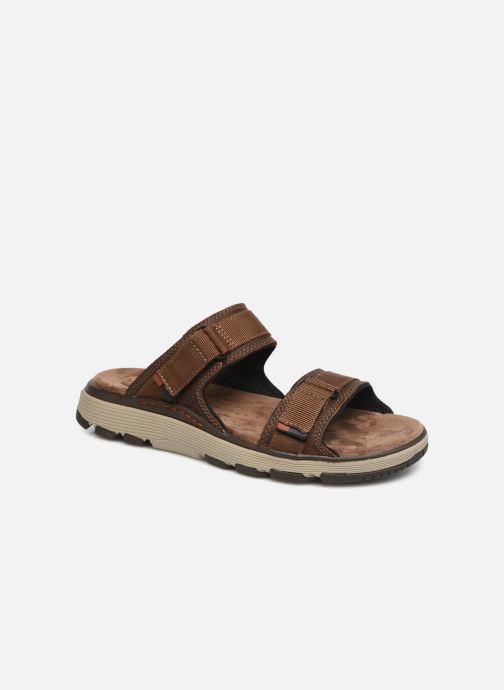 Sandales et nu-pieds Clarks Unstructured UN TREK WALK Marron vue détail/paire