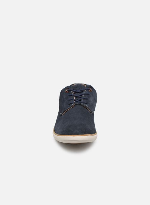 Snörade skor Clarks Unstructured UN VOYAGE PLAIN Blå bild av skorna på