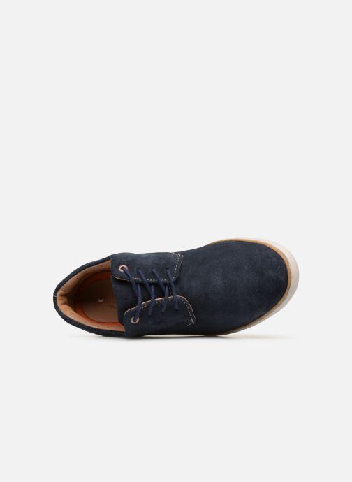 Zapatos con cordones Clarks Unstructured UN VOYAGE PLAIN Azul vista lateral izquierda